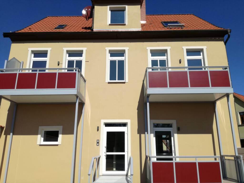 Ballenstedt Kügelgenstraße hinten Balkone
